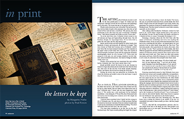 layout: the letters he kept